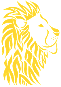 Tribal Lion Head vector silhouet