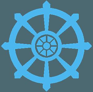 Dharma Wheel silhouette