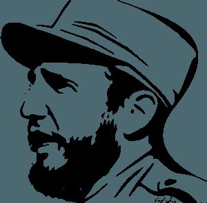Фідель Кастро - векторний силует
