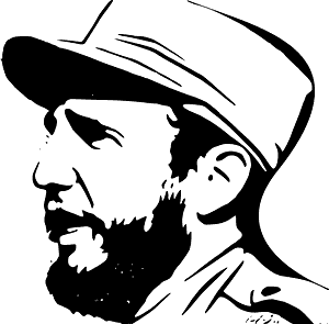 Fidel Castro - sylwetka wektorowa