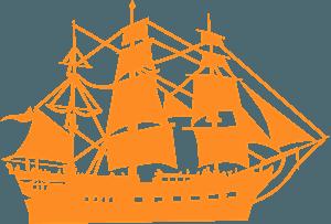 帆船 シルエット