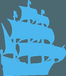 Segelbåt silhuett