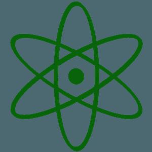 Atom symbol silhueta vetor