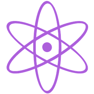 Atom symbol silhouette