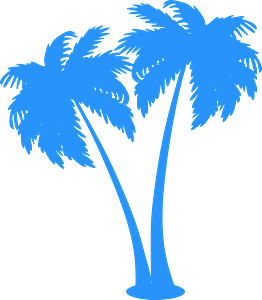 Palm trees シルエット