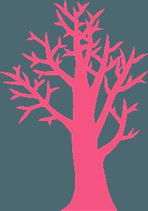 Winter tree silhouette