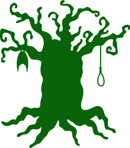 Silueta de Haunted tree vector