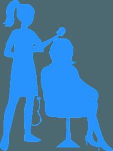 Hairdresser - sylwetka wektorowa