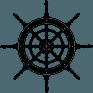 Ship wheel siluetti
