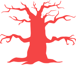 Haunted tree silhouette