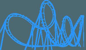 Roller coaster - sylwetka wektorowa