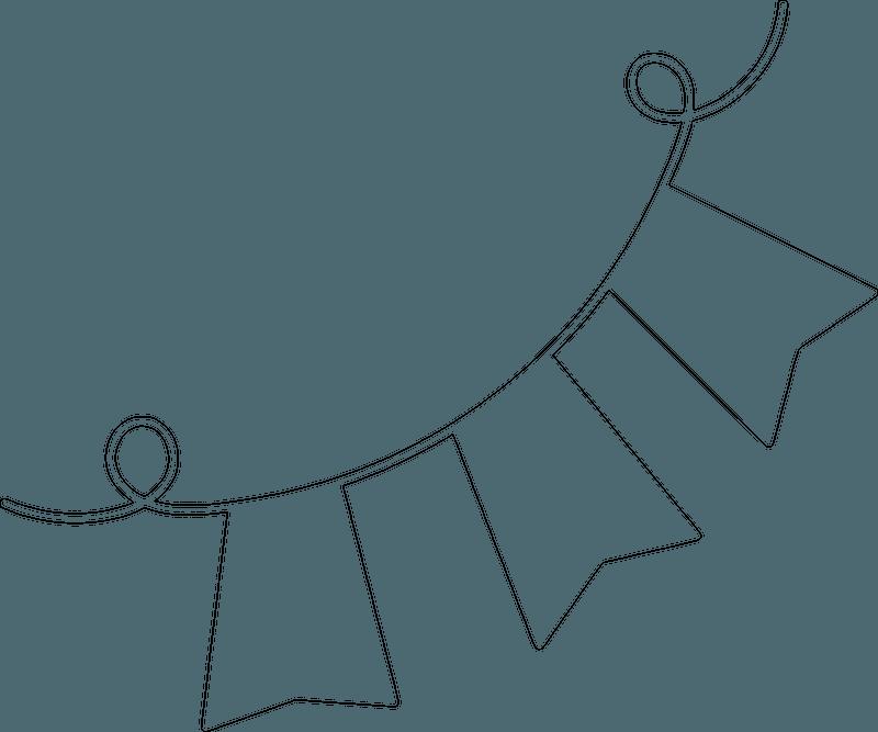 Silhouette Garland Vector