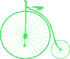 Penny Farthing Bicycle 실루엣