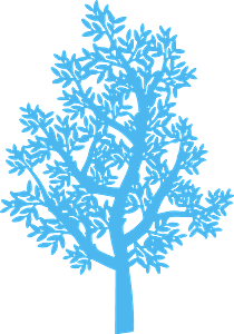 Tree vector silhouet