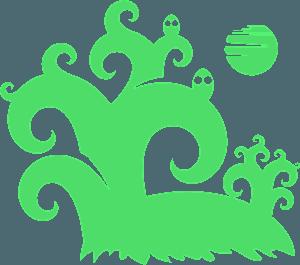 Halloween Spooky Forest vektor silhouette