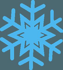 Simple snowflake silueta