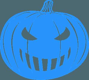 Grinning Jack-O'-Lantern silhouette