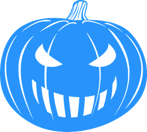 Grinning Jack-O'-Lantern vektor silhouette