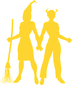 Women in Halloween Costumes silhouette