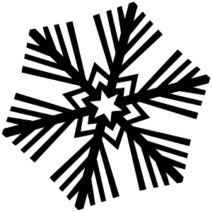 Snowflake vector silhouet