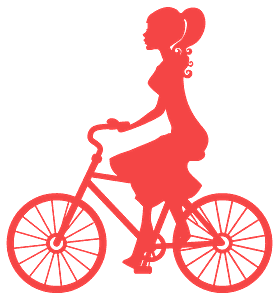 Girl on Bike silhouette