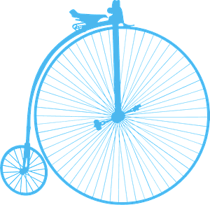 Penny farthing シルエット