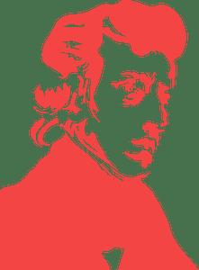 Fryderyk Chopin Portrait Stencil silhouette