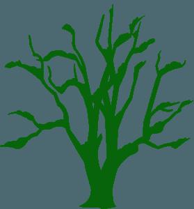 Зимнее дерево - Векторный Силуэт