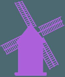 Väderkvarn silhuett