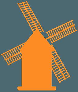 Мельница - Векторный Силуэт