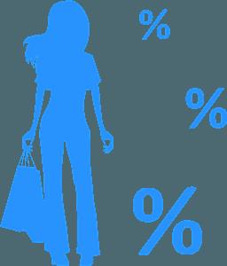 Shopping girl vector silhouet