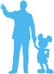 Walt Disney and Mickey silhouette