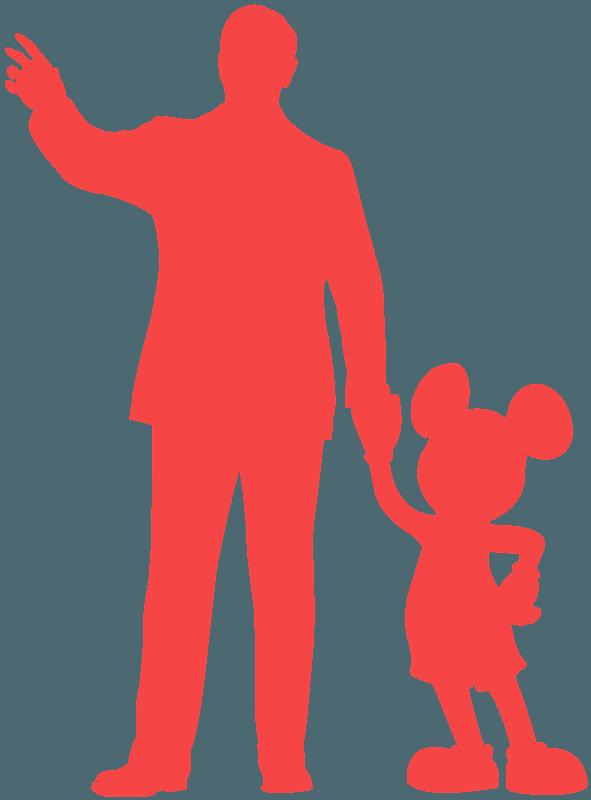 ウォルト・ディズニーとミッキー シルエット