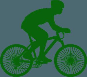 Велосипедист - Векторный Силуэт