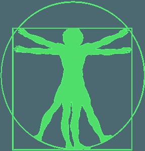Vitruvian Mann vektor silhouette