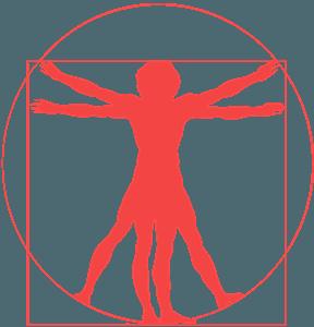 Vitruviusman vector silhouet