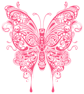 Abstract Butterfly silhouette