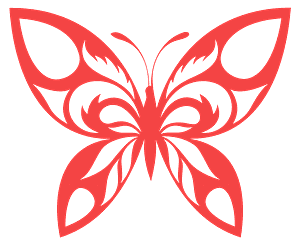 Tribal Butterfly - векторний силует