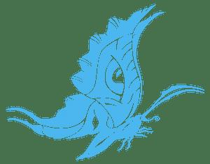 Tribal Style Butterfly - векторний силует