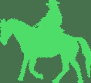 Cowboy - векторний силует