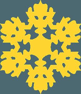 Snowflake silueta