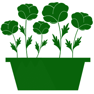 Poppies in a Pot silhouette