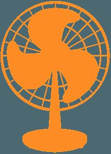 Oscillating Fan silhouette