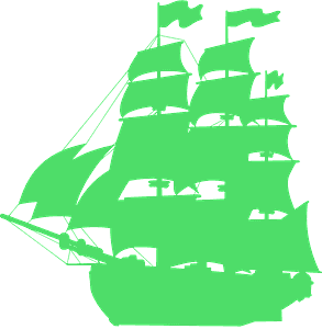Silueta de Pirate ship vector
