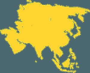 Asia silhouette