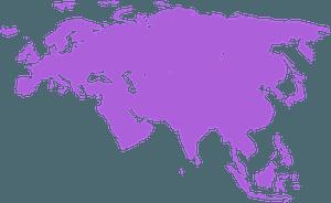Euroasia silhouette
