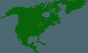 North America silhouette