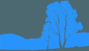 Træ landskab vektor silhuet