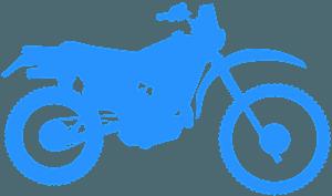 Гоночный мопед - Векторный Силуэт
