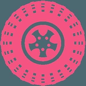 Opona - sylwetka wektorowa